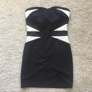 Beautiful black and white bodycon dress 🎹